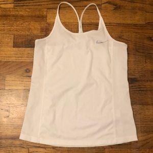 White Dri Fit Nike tank